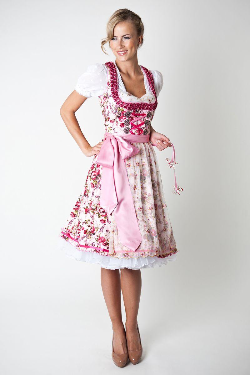 dirndl marissa creme pink marjo online bestellen ludwig therese. Black Bedroom Furniture Sets. Home Design Ideas
