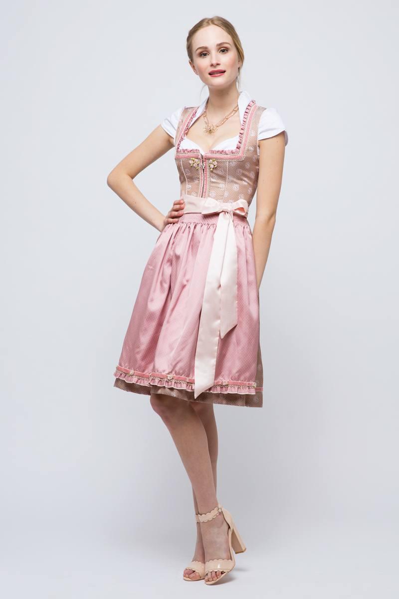Krüger Mini Dirndl Celeste rosé