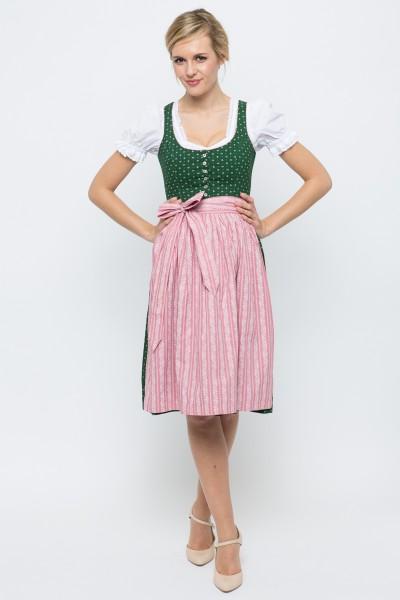 Midi Dirndl Irmi, grün/rosa
