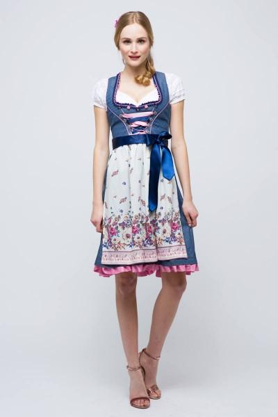 Mini Dirndl Tawia, blau/rosa