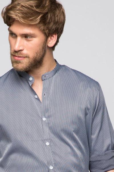 Trachtenhemd Clemens, weiß/blau