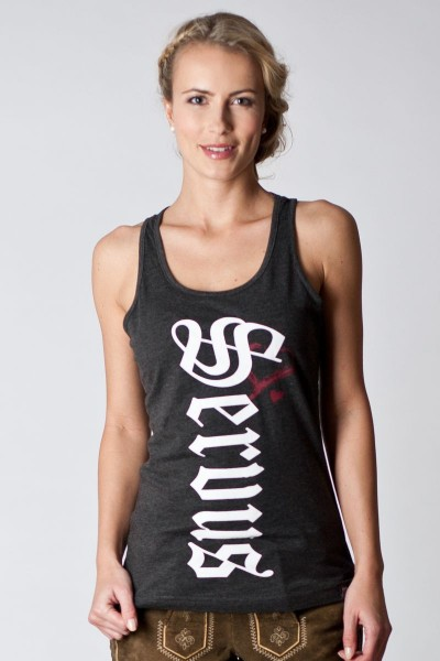 Damen Trachten Shirt Melissa, dunkelgrau