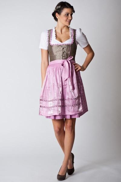 Trachten Dirndl Elena, beige /rosa