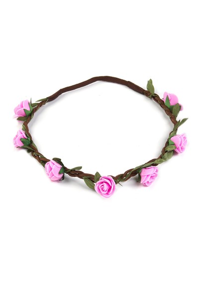 Trachten Kopfband Röschen, rosa