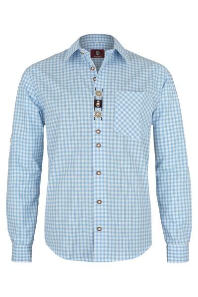 Trachtenhemd Hektor, hellblau