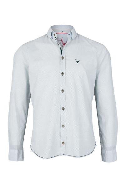 Trachtenhemd PURE slimfit, grün/weiß