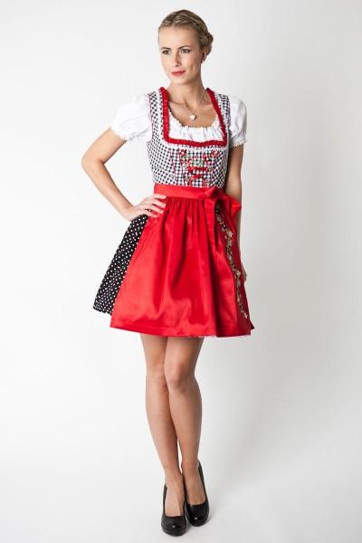Dirndl Nele, schwarz/rot