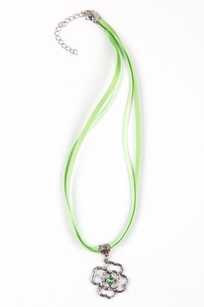 Trachtenkette Blumenanhänger, grün