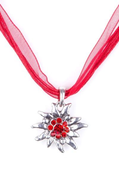 Trachtenkette Edelweiß II, rot