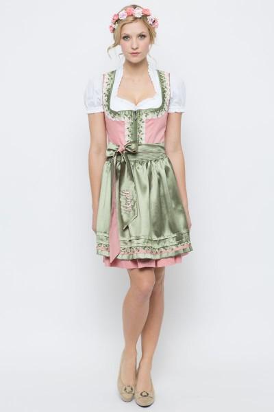 Mini Dirndl Alice, rosa/grün