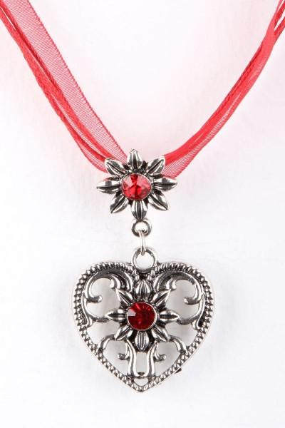 Trachtenkette Großes Herz, rot