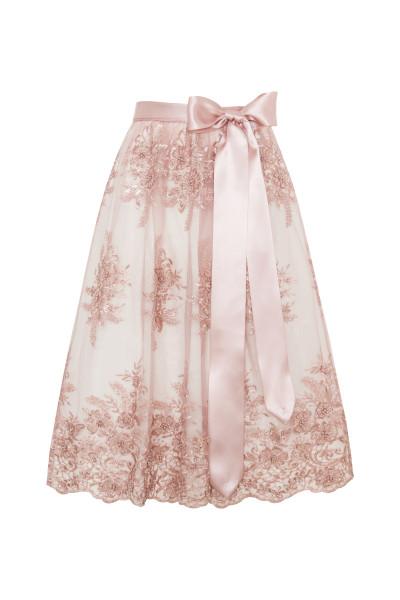 Dirndlschürze Glitzerschürze, rosa