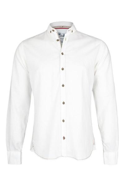 Trachtenhemd PURE slimfit, uni weiß