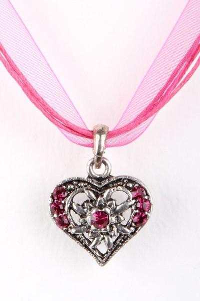 Trachtenkette Kleines Herz, pink