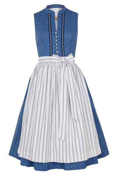 Midi Dirndl Rilla, blau/weiß