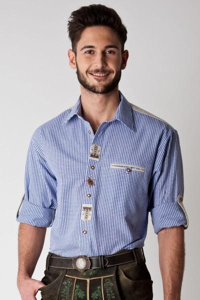 Trachten Hemd Frederik, blau weiß