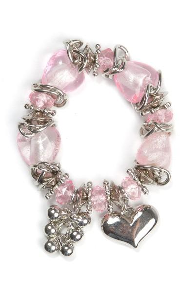 Trachtenarmband Herzdame, rosa