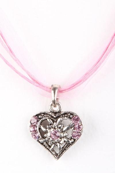 Trachtenkette Kleines Herz, rosa