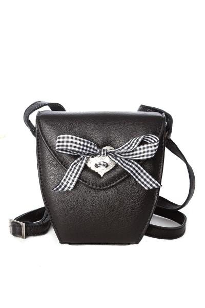 Trachtentasche Alpenglöckchen, schwarz