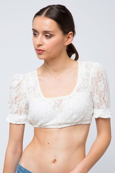 Dirndlbluse Morgana, creme/weiß