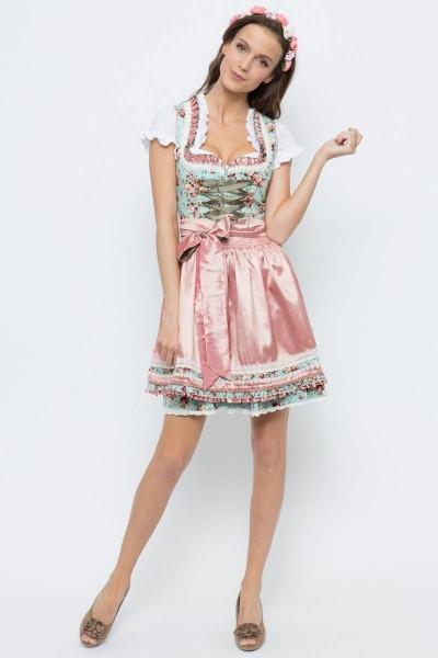 Mini Dirndl Ariana, türkis/rosa