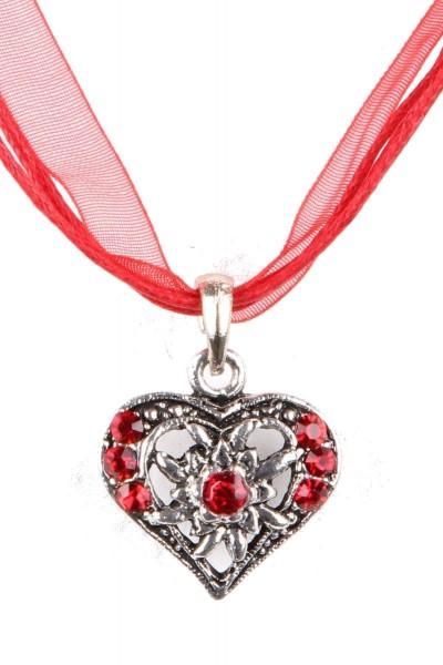 Trachtenkette Kleines Herz, rot