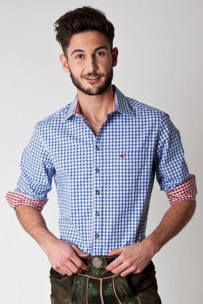 Trachten Hemd Elias, blau