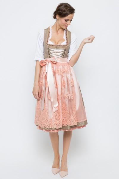 Midi Dirndl Tamira, grau/rosa