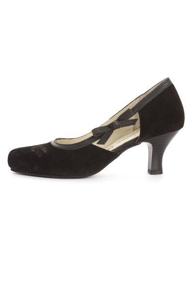 Trachten Schuhe Graziella, schwarz
