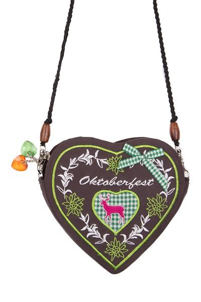 Trachtentasche Oxana, braun/grün