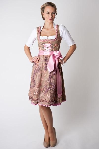 Dirndl Bianca, beige/rose Marjo