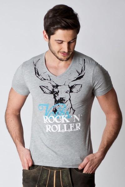 Herren Trachten Shirt Felix, grau