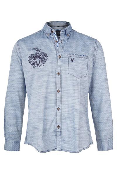 Trachtenhemd Johann, blau