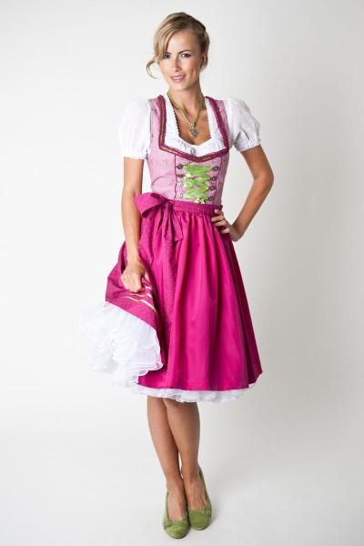 Dirndl Hannah, pink/grün