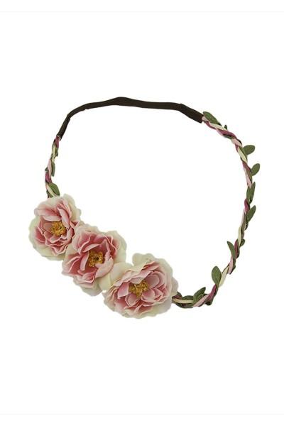 Trachten Kopfband Röschen, rosa/pink