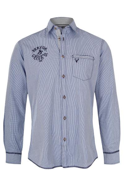 Trachtenhemd Laurenz, hellblau