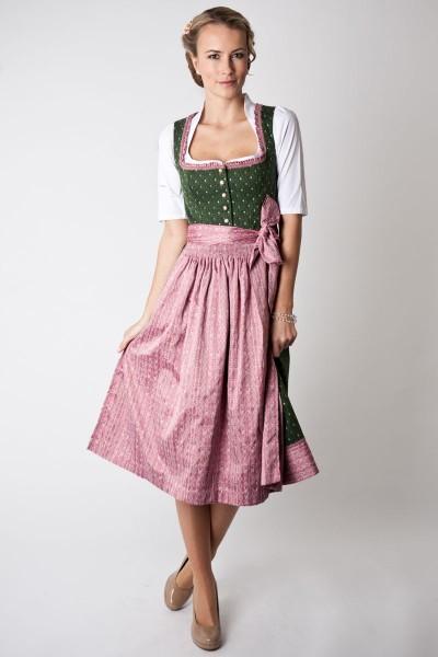 Dirndl Frida, grün/rosa