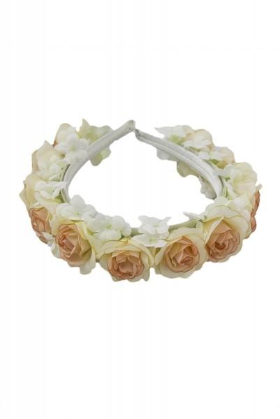 Trachten Haarreif Blütenwunder, weiß/rose