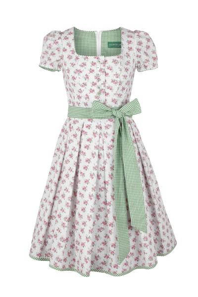 Trachten Kleid Wynona midi/lang, creme/rot