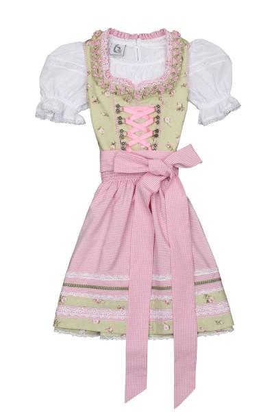 Kinderdirndl Nayla, grün/rosa