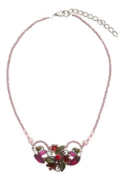 Trachtenkette, rot/rosa