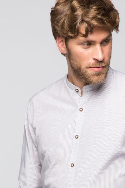 Trachtenhemd Georg, weiß/umbra