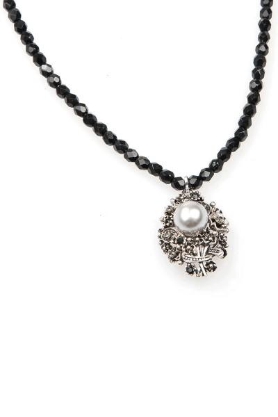Trachten Halskette Zarenperle, schwarz
