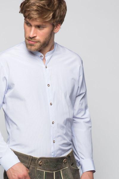 Trachtenhemd Georg, weiß/hellblau