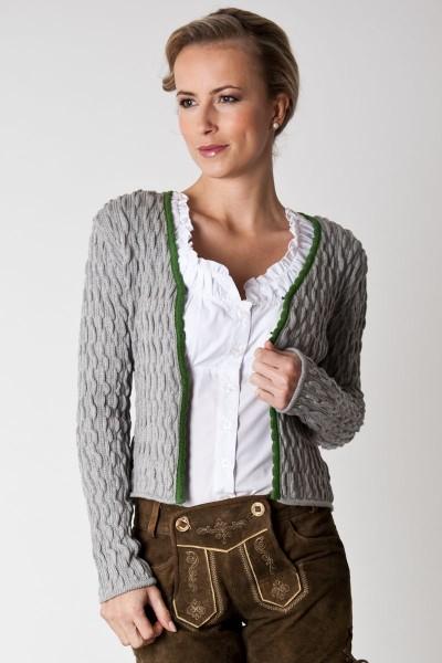 Trachtenjacke Elke, grau/grün