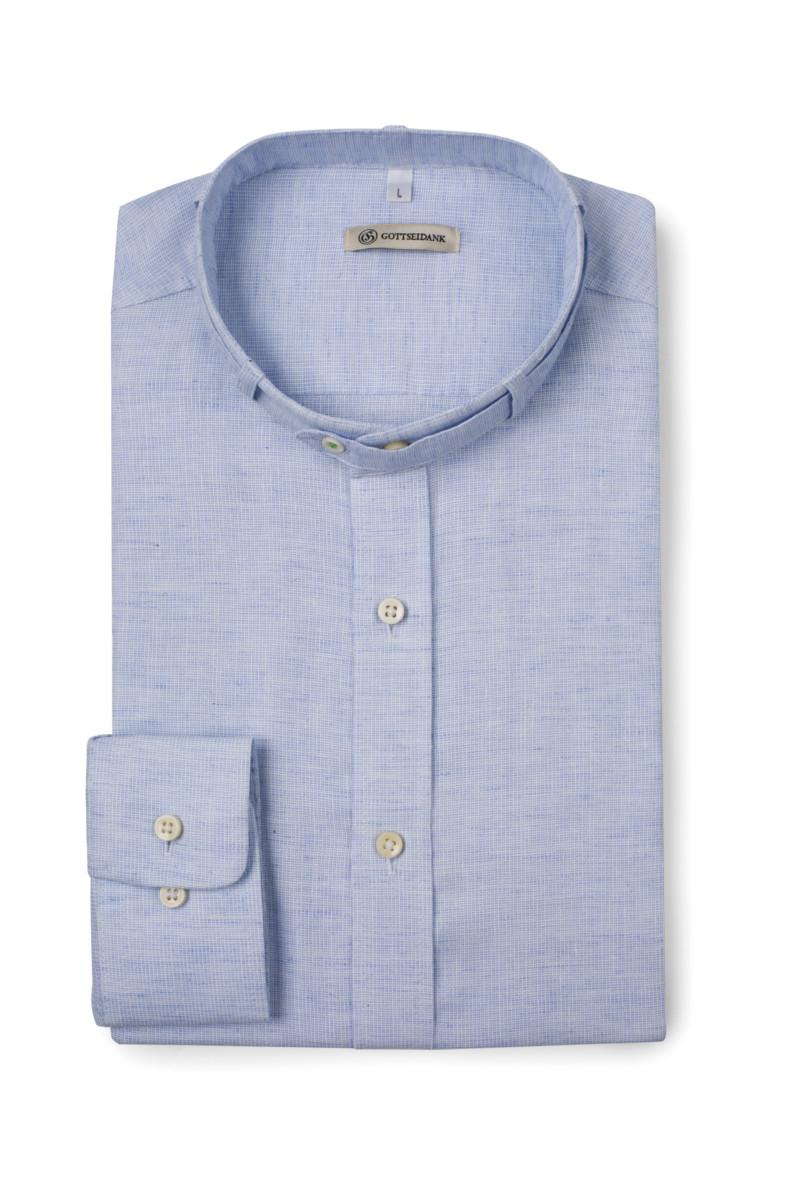Trachtenhemd Lenz Himmelblau