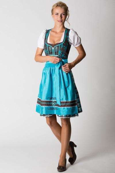 Mini Dirndl Adria, braun/blau