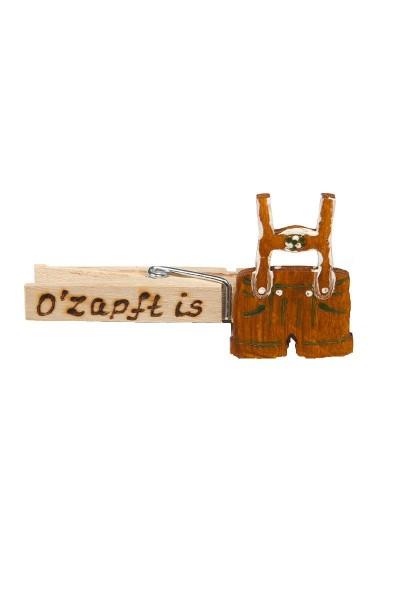 """Wiesn Zwickerl """"Ozapft is"""" Lederhose, braun"""