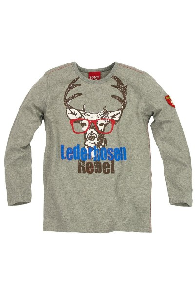 Trachten Shirt Rebel, grau