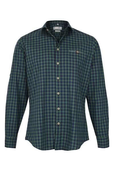 Trachtenhemd Lenny, grün/navy